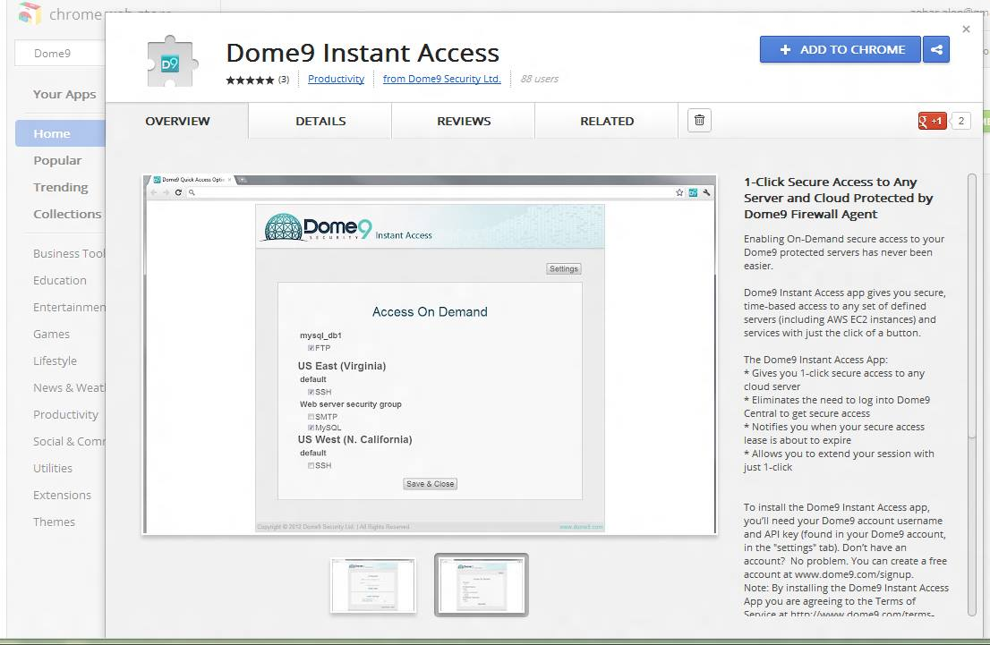 dome9_on_chrome_app_store