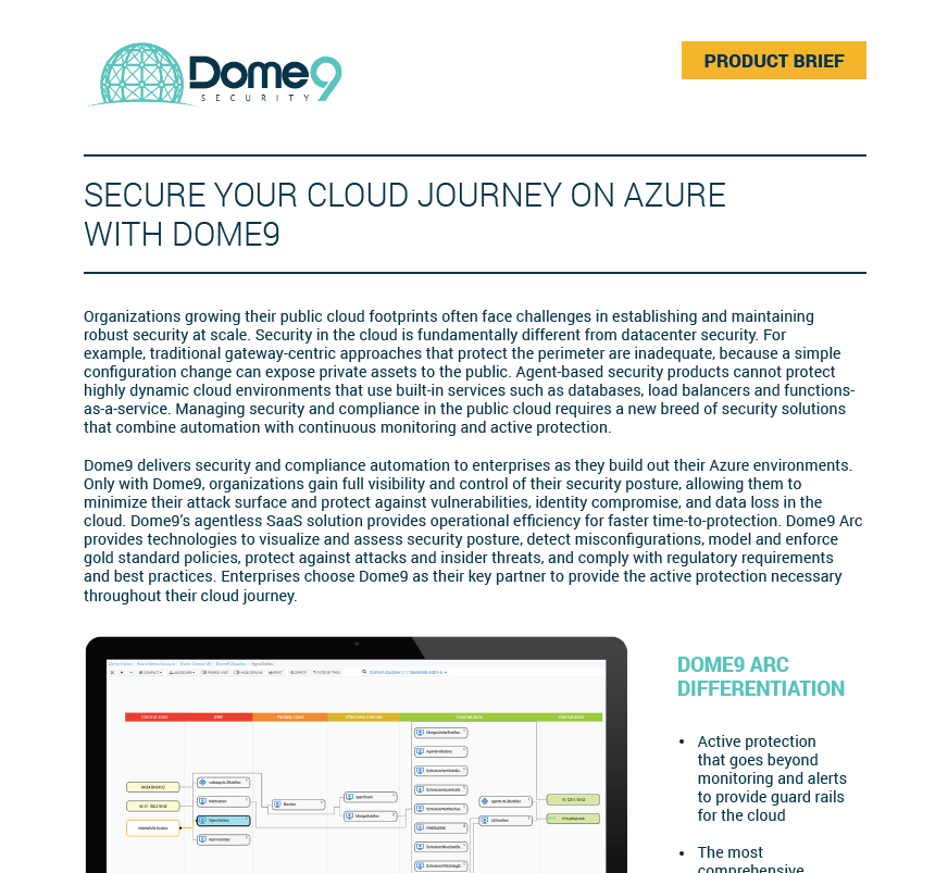 Dome9 Arc for Azure – Product Brief